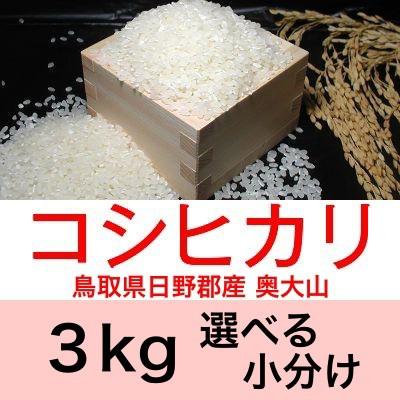 令和2年産 鳥取県日野産コシヒカリ/こしひかり奥大山3kg便利な選べる小分け