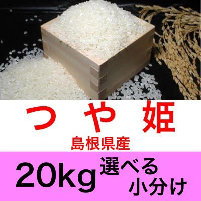 令和2年産 島根県産つや姫20kg便利な選べる小分け