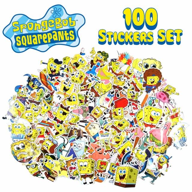 送料無料 スポンジボブ ステッカー 100枚セット PVC 防水 シール Sponge Bob アニメ キャラクター