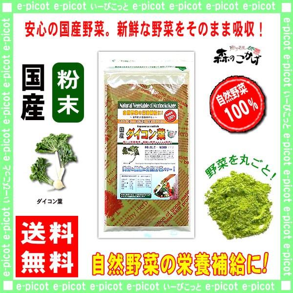 A 国産大根(葉)【粉末】 100g やさいパウダー 100% 送料無料 森のこかげ 健やかハウス 野菜粉末 だいこん ダイコン葉