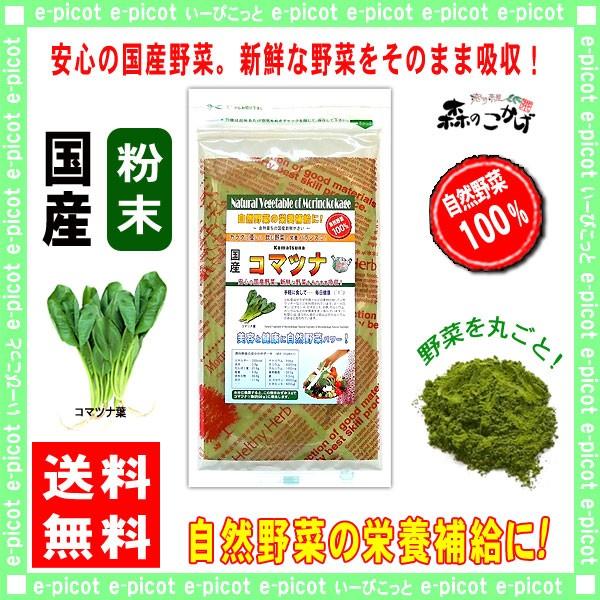 A 国産 コマツナ 【粉末】 100g やさい パウダー 100% 送料無料 森のこかげ 健やかハウス 野菜粉末 小松菜 こまつな