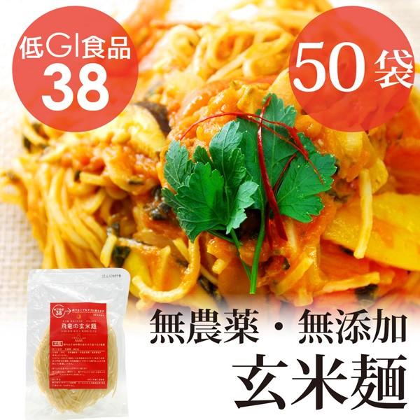 HIRYUの玄米麺 100g×50pc 無農薬・無化学肥料