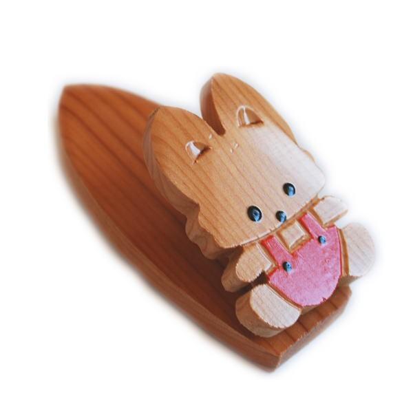 木製 きたきつね クリップ マグネット付き