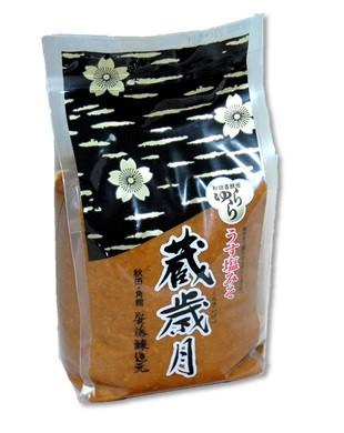 秋田 角館 安藤醸造 うす塩味噌蔵歳月味噌1kg【クール便】