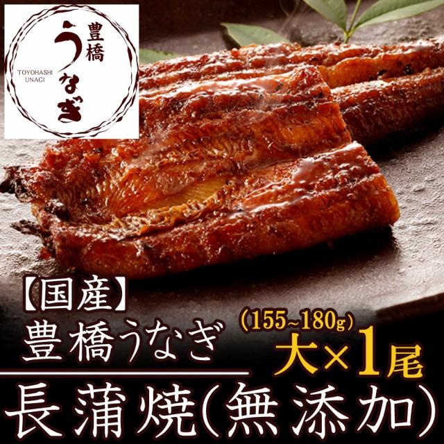 豊橋うなぎ蒲焼(無添加)大155-180g×1尾 大盛1人前 国産 ウナギ 鰻 送料無料
