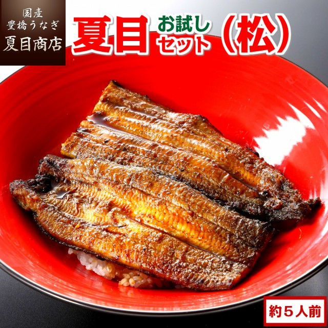 豊橋うなぎ お試し夏目セット 蒲焼き(松) 3種類の蒲焼きが入って約5人前 国産 ウナギ 鰻 送料無料