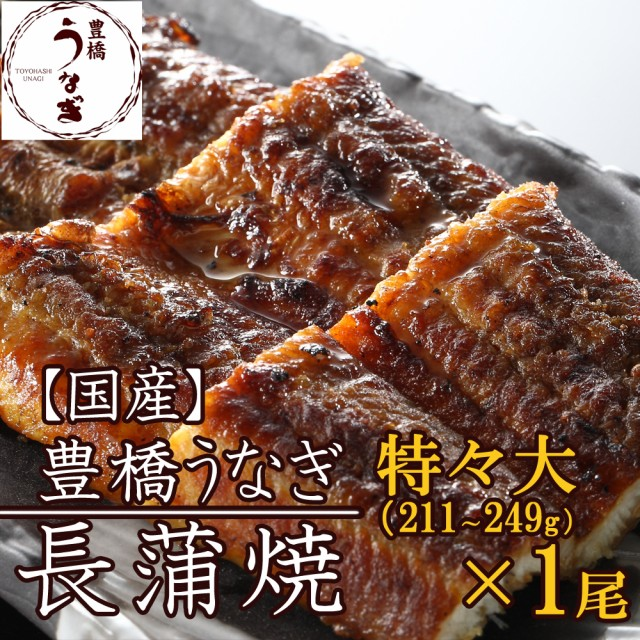 豊橋うなぎ蒲焼 特々大211-249g×1尾 約2人前 国産 ウナギ 鰻 送料無料の品物と同梱可