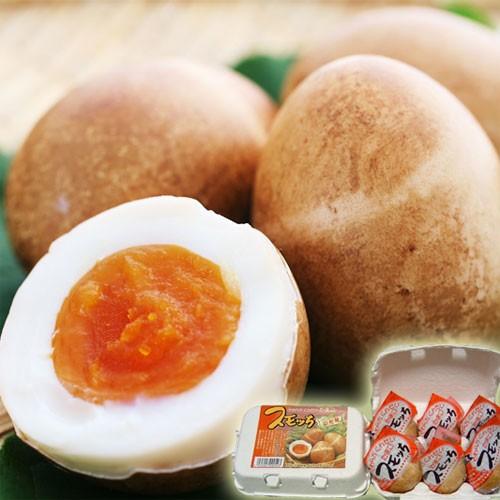 【天童市:半澤鶏卵】半熟くんせい卵スモッち6個入り<ご自宅用モールド入>【クール便】贈り物に 冬ギフト プレゼント