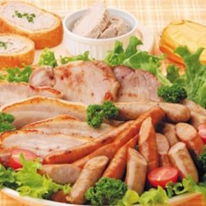 ギフトに【東北ハム】庄内豚使用無添加シリーズ出羽のしんけん工房6種セットロースハム、ベーコンブロック、ソーセージ、レバーペースト