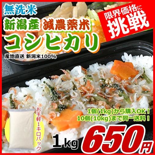 コシヒカリ 1キロ 有機栽培米 無洗米 新米 新潟米 1kg 令和2年産 お米 新潟産 産地直送 米 コメ ポイント消化