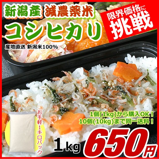 コシヒカリ 1キロ 有機栽培米 新米 新潟米 1kg 令和元年産 お米 新潟産 産地直送 米 コメ ポイント消化