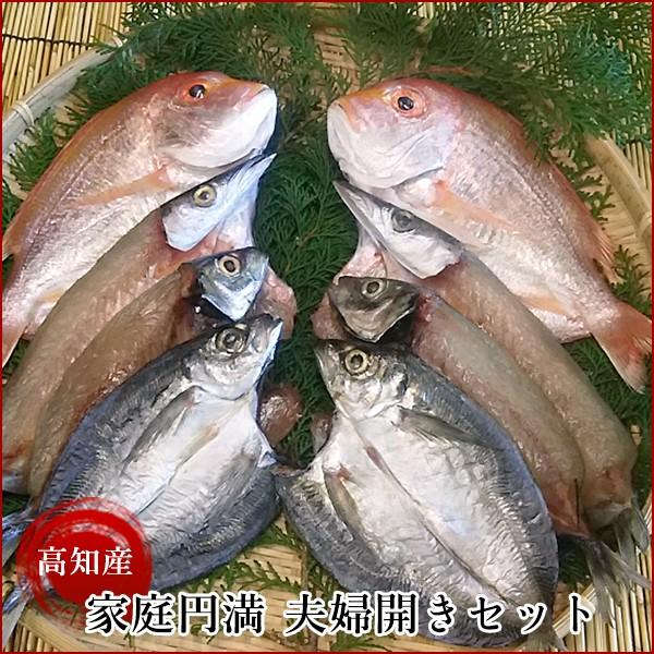 【漁師直送】高知県産 家庭円満 夫婦開きセット 岡岩商店/れんこ鯛開き・かます開き・あじ開きの詰め合わせセット