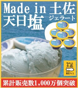 高知アイス 天日塩ジェラート6個/塩アイス/Made in土佐/カップアイス
