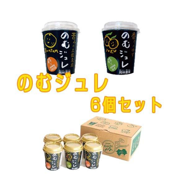 【国産原料100%】土佐文旦・ゆずを使用した飲むジュレ6個入りセット /1つあたり100kcal未満 /高知 /岡林農園