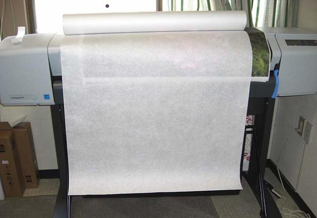 楮紙純白 特厚口 20m巻き 914mm幅 インクジェット用対応和紙 /土佐和紙/高岡丑製紙研究所