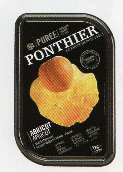 冷凍 フランス産 高級アプリコット ピューレ 1kg 100%(加糖)ポンティエ社 人工着色料、香料不使用