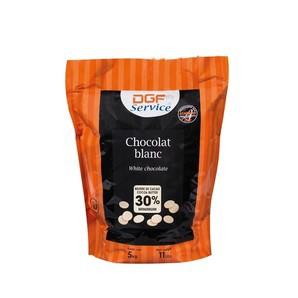 フランス産 DGF セルヴィス ブラン(30%) 5kg ホワイトチョコレート コイン状