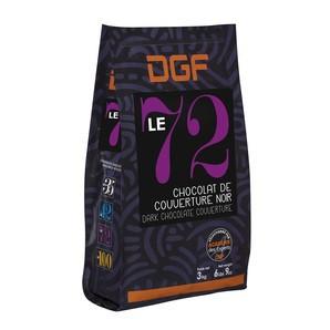 フランス産 DGF ル ノアール(72%) 3kg  チョコレート クーベルチュール コイン状