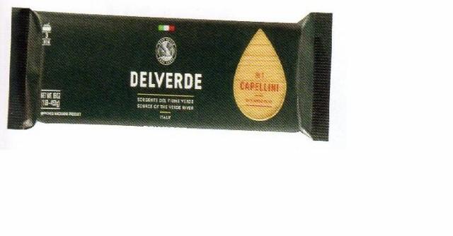 イタリア産 最高級デルヴェルデ(Delverde)N.1 カッペリーニ  太さ約1mm 500g  デュラム小麦セモリナ 2020.9末入荷予定