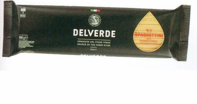 イタリア産 最高級デルヴェルデ(Delverde)N.3 スパゲティーニ  太さ約1.6mm 500g  デュラム小麦セモリナ