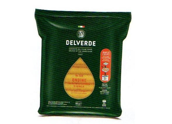 イタリア産 最高級デルヴェルデ(Delverde)N.106 ラザニア(ラザーニャ)オンディーネ プレーン 下茹でがいらない   平パスタ 500g