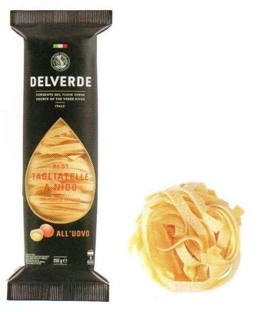 イタリア産 最高級デルヴェルデ(Delverde) N.91 タリアテッレ(卵入り)スペシャリテ 切断パスタ 250g×12パック 業務用