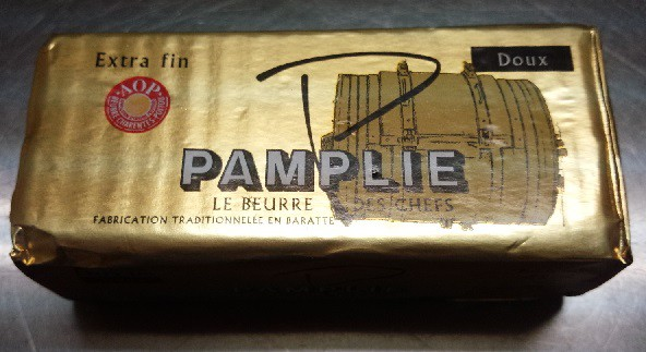 フランス ポワトゥシャラン産 パムプリー(Pamplie) AOP 無塩バター 250g