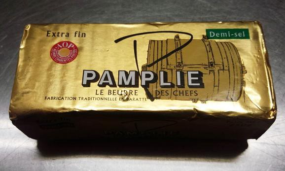 フランス ポワトゥシャラン産 パムプリー(Pamplie) AOC 有塩(海塩)バター 250g