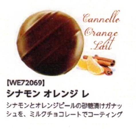 シナモン オレンジ (ボンボン・オ・ショコラ) シナモンとオレンジの皮のチョコ 100個