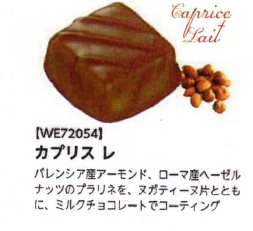 カプリス レ (ボンボン・オ・ショコラ) ナッツとミルクチョコレート 100個