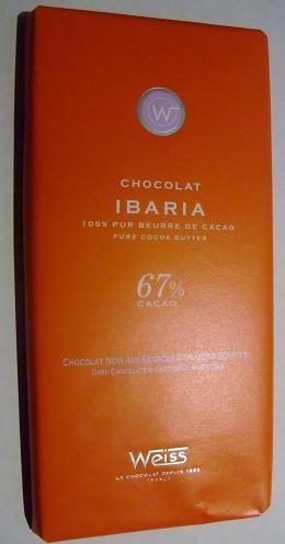 タブレット ノワール オレンジチョコレート(カカオ67%) フランス産