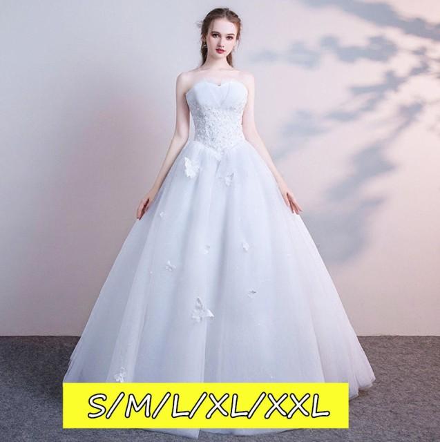 65066a7101969 結婚式ワンピース お嫁さん 豪華な ウェディングドレス 花嫁 ドレス マキシドレス ミドリフトップ 編み上げタイプ 姫系ドレス 白ドレス
