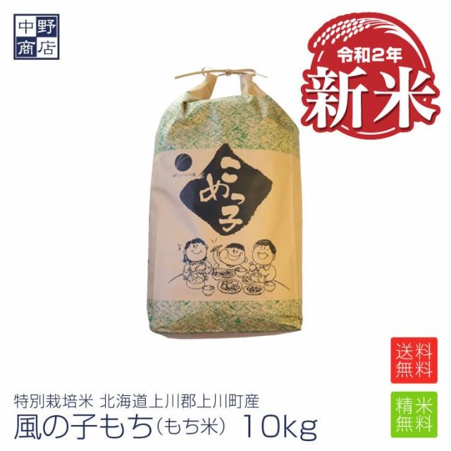 新米 もち米 10kg 特別栽培米/北海道産 風の子もち (節減対象農薬5割減・化学肥料 5割減)もち米10kgもち米 送料無料