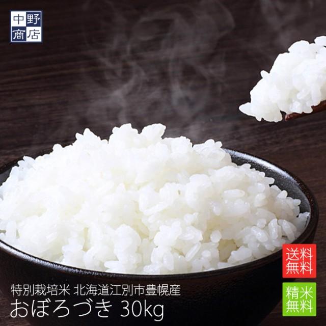 特別栽培米 減農薬栽培米 玄米 米 /北海道産 おぼろづき 30kg 特別栽培米(節減対象農薬5割減・化学肥料5割減)
