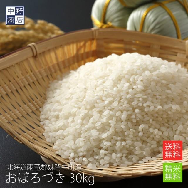 無農薬 米 玄米 北海道産 おぼろづき 30kg 特別栽培米(節減対象農薬 栽培期間中不使用 化学肥料(窒素肥料)栽培期間中不使用)
