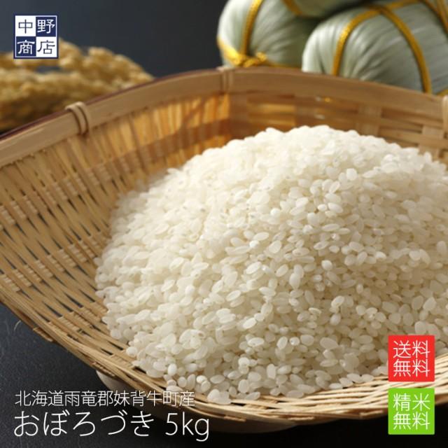 無農薬 米 玄米 北海道産 おぼろづき 5kg 特別栽培米(節減対象農薬 栽培期間中不使用 化学肥料(窒素肥料)栽培期間中不使用)