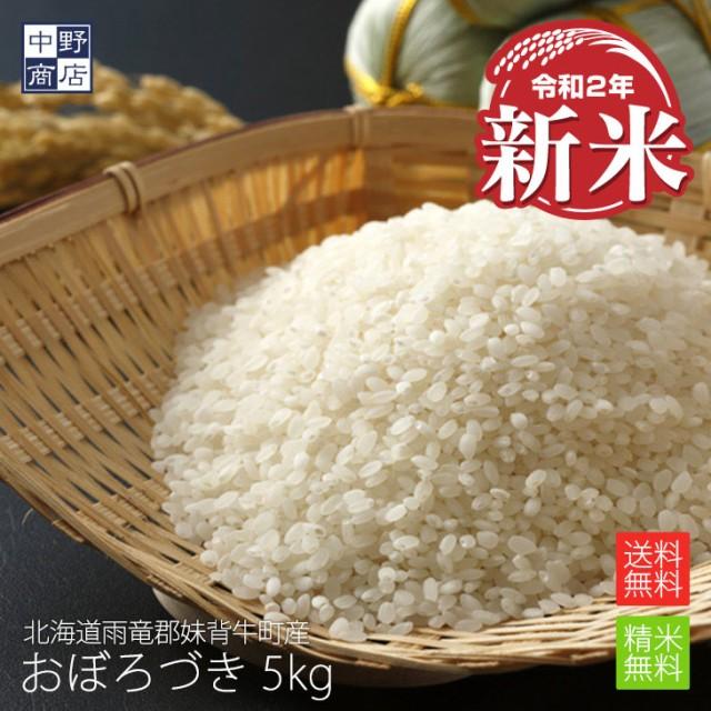 新米 無農薬 米 玄米 北海道産 おぼろづき 5kg 特別栽培米(節減対象農薬 栽培期間中不使用 化学肥料(窒素肥料)栽培期間中不使用)