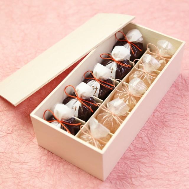 送料無料 母の日 ギフト 木箱入り 恋桜(こいざくら)5個・水羊羹5個 ひとくちようかん 和菓子 高級 京都 お取り寄せ 詰合せ 内祝 御