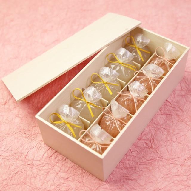 送料無料 ホワイトデー ギフト スイーツ 恋桜(こいざくら)5個・葛まんじゅう(柚子)5個 木箱入り 可愛い桜のひとくち羊羹 京都 和菓