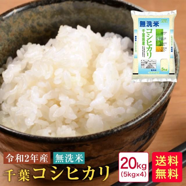 【新米】米 20kg 送料無料 無洗米 令和2年産 千葉コシヒカリ20kg(5kg×4)