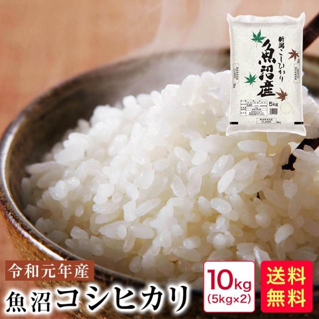 米 10kg 送料無料 令和元年産 新潟魚沼コシヒカリ10kg(5kg×2)