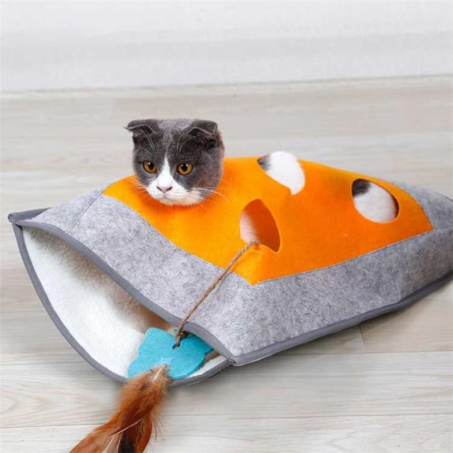 猫トンネル トンネル おもちゃ キャットトンネル 猫用ベッド 寝袋 ネコ ペット ねこ キャット ペット用品 送料無料 ストレス発散 猫用 猫