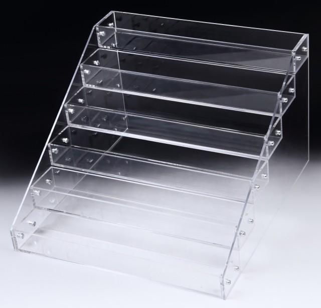 アクリル ケース 6段 透明 収納 長方形 大型 ディスプレイ ラック 展示 ボックス スタンド 雛壇 コレクション 小物 フィギュア 化粧品 メ