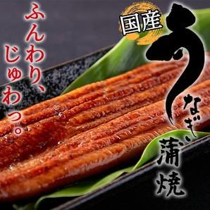 【高級】国産うなぎ蒲焼3尾(タレ・山椒付き)<冷凍>