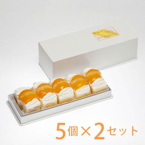 シースクリーム5個入×2セット 梅月堂 ※送料別途:北海道1100円・沖縄1500円