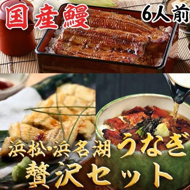 浜松・浜名湖 うなぎ贅沢セット 6人前 浜名湖産・国産鰻