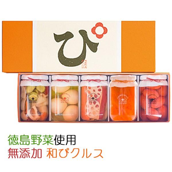 国産・無添加 素材を極めた和ピクルス「徳島ぴクルス」5種セット エイブルフーズ のし対応可
