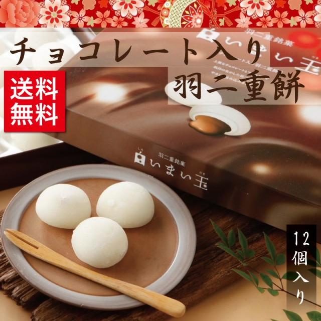 チョコレート入り羽二重餅 12個入 和菓子 福井 銘菓 お土産 スイーツ ギフト 送料無料