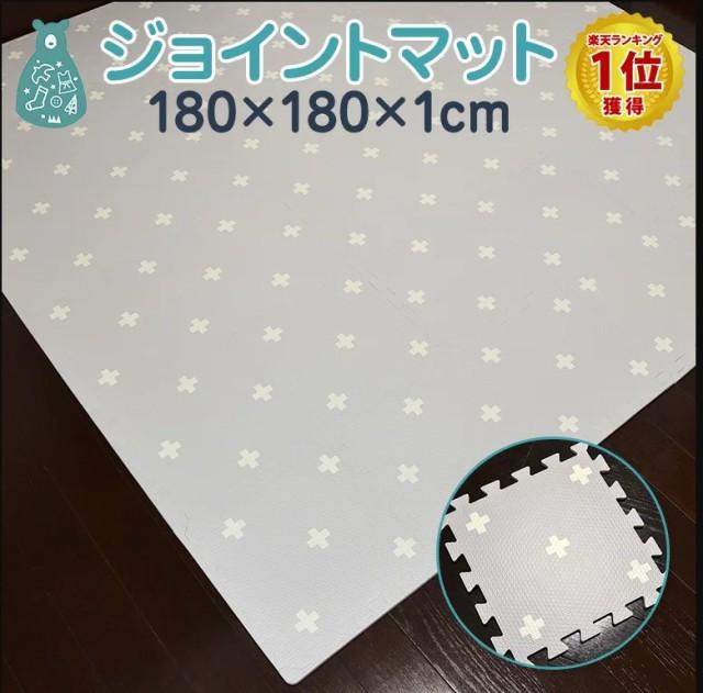 ノンホルム 抗菌 ジョイントマット 36枚 オリジナル ホワイト クロス 大判 おしゃれ 厚手 6畳 8畳 30cm 北欧 マット グレー プレイマット