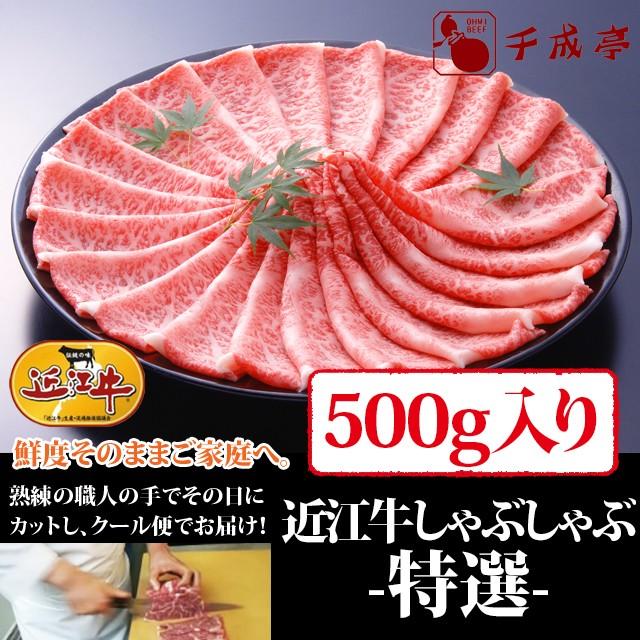 牛肉 しゃぶしゃぶ 近江牛 特選 500g入り お肉ギフト のしOK お中元 ギフト